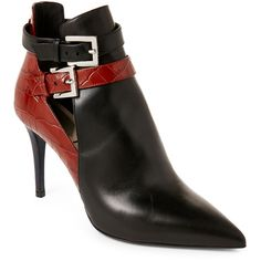 631f93434fab Fendi Leather Pointed Toe Ankle Booties ( 600) ❤ liked on Polyvore  featuring shoes