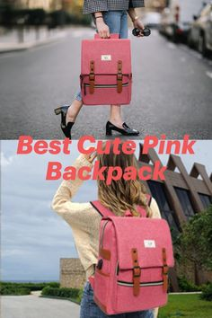 Ronyes Unisex College Bag Fits up to Laptop Vintage Casual Rucksack School Bookbags Backpack Daypacks with USB Charging Port (Pink) Cute Backpacks For Women, College Bags, Cute Pink, Pink Color, Usb, Laptop, Unisex, Casual, Vintage