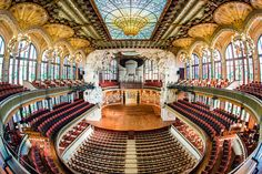 The Palau de la Musica Barcelona is an architectural wonder, covered in iridescent stained glass.