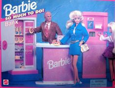 Barbie So Much To Do Bank Playset 1995 Arcotoys Mattel * To view further for this item, visit the image link.