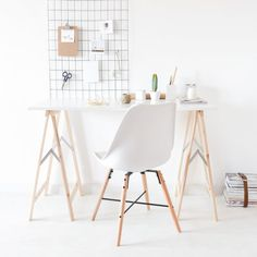 How to: add to your work space this simple, yet very handy wall organizer for less than $3.