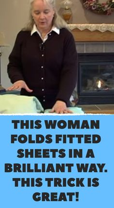 This woman folds fitted sheets in a brilliant way. This trick is great! - Hints for home - This woman folds fitted sheets in a brilliant way. This trick is great! Life Hacks Diy, Simple Life Hacks, Useful Life Hacks, Home Hacks, Life Hacks For Girls, Iphone Life Hacks, Life Hacks Every Girl Should Know, Daily Hacks, Household Cleaning Tips
