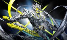 Kamen Rider Decade, Kamen Rider Series, Anime Fantasy, Dark Fantasy Art, Character Art, Character Design, Kamen Rider Zi O, Zero One, Mecha Anime