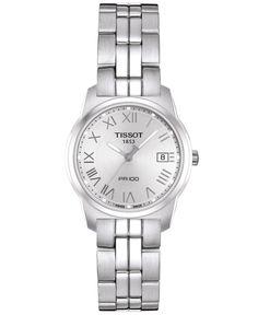 Tissot Watch, Women's Swiss Pr 100 Stainless Steel Bracelet T0492101103300