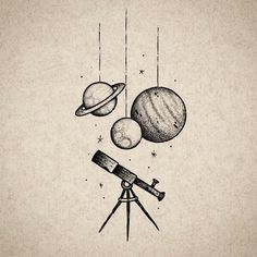 """whichwitchami: """" constellations-and-energy: """" somethingoddlyprofound: """" ufo-the-truth-is-out-there: """"Tattoo illustration by: Reindeer Ink """" we should get these """" Yes. Space Drawings, Cool Art Drawings, Pencil Art Drawings, Doodle Drawings, Easy Drawings, Art Sketches, Tattoo Illustration, Ink Illustrations, Planet Drawing"""