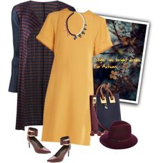 """Style the bright dress for Autumn"" by musicfriend1 on Polyvore"