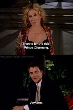 """Carrie Bradshaw and Mr. Big, """"Sex and The City"""" City Quotes, Movie Quotes, Real Quotes, Carrie And Mr Big, Chris Noth, Samantha Jones, Movie Lines, Carrie Bradshaw, Prince Charming"""