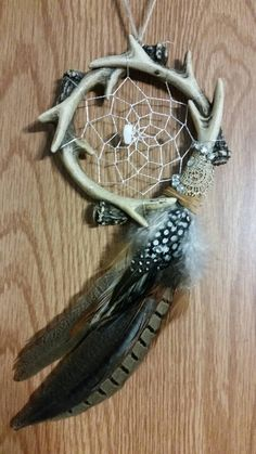 Small antler dream catcher by AHappyLittleShopie on Etsy