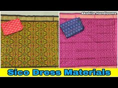 Silk Dresses Online || Pochampally Ikkat Sico Dress Materials || Sico Suits Material - YouTube Whatsapp Message, Silk Material, Silk Dress, Dresses Online, Kids Rugs, Suits, Youtube, Silk Gown, Kid Friendly Rugs