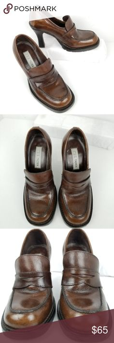 e96c158dc1e Spotted while shopping on Poshmark  Steve Madden Loafers Size 5.5 B Chunky  Heel Brown!