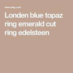 Londen blue topaz ring emerald cut ring edelsteen