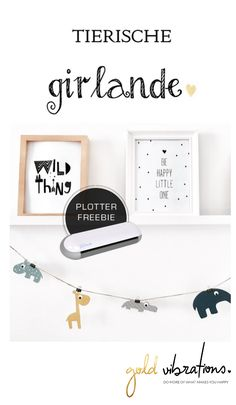 Beastly cute DIY garland with plotter freebie as a template Animal garland Source by hafenmaedchen Baby Room Decor, Nursery Decor, Nursery Prints, Wall Art Prints, Plotter Silhouette Portrait, Fleurs Diy, Diy Bebe, Cute Diys, Little Girl Rooms