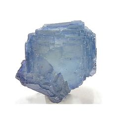 Blue Fluorite Cube Crystal Stepped Faces Sharp by FenderMinerals