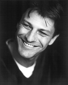 What a smile! No name but this has got to be a young Sean Bean - Game of Thrones - Eddard Stark!