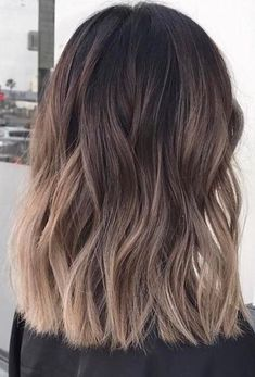 Nägel Herbst 2018 Kurze 50 Ideen – Nails Designs – - Top Of The World Hair Color Balayage, Hair Highlights, Ombre Hair, Short Balayage, Hair Color And Cut, Hair Colour, Brunette Hair, Pretty Hairstyles, Bob Hairstyles