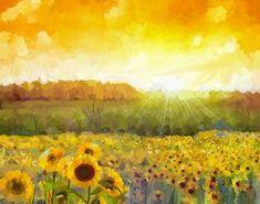 Sunflower Sunset - TouCanvas