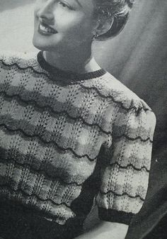 Knitting Pattern Vintage 1940s Womens Lacy от sewmuchfrippery