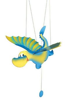 WOODEN TOY HANGING FLYING FLAPPING SEAGULL PARROT EAGLE NURSERY BABY MOBILE | eBay
