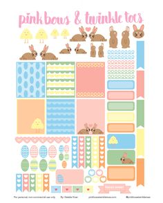 Planner & Journaling Printables ❤ FREE Hoppy Easter Planner Stickers: Free…