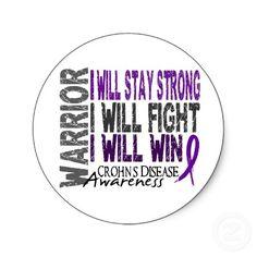Crohn's Disease Warrior Round Stickers