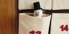 knit snowman Christmas ornament - free knitting pattern (great instructions)!