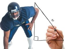 Football and the Pythagorean Theorem: There's Math in Sports?- Explore how the Pythagorean theorem can be used to determine the distance that a pass and a kick in football actually travel in this interactive from Alabama Public Television. Math Help, Fun Math, Math Activities, Math 8, Math Worksheets, Teaching Geometry, Teaching Math, Math Teacher, Math Classroom