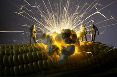 Popcorn...PHOTOGRAPHY : MINATURE SCENES / MACRO PHOTOGRAPHY / TANAKA TATSUYA / DIORAMAMore At FOSTERGINGER @ Pinterest♀️
