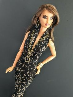NEW Barbie The Look Pool Chic Doll Gold Cuff Bracelet ~ Model Muse Jewelry