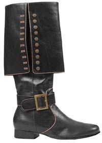 Mens Deluxe Black Pirate Boots - Pirate Costumes