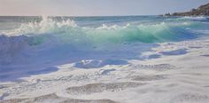 Late Afternoon Beach Break, oil on panel 12x24 inchs by Shane Couch