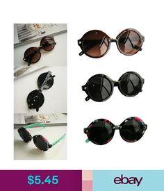 7380975389ef Women s Sunglasses Womens Mens Fantastic Vintage Retro Rivet Plastic Circle  Frame Sunglasses Shades  ebay