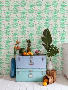 Piña Sola  (wallpaper) by Aimee Wilder.