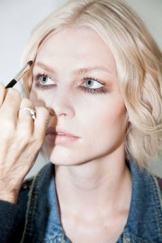 Backstage at Fashion Week with makeup artist Dick Page