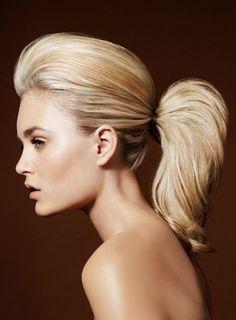 perfect ponytail ~ we ❤ this!  moncheribridals.com ~  #weddinghair #bridalhair