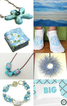 Soft Sky and Sea by midnightcoiler on Etsy--Pinned with TreasuryPin.com