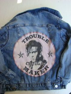 """BAREFOOT VINTAGE ORIGINAL CRY BABY """"JOHNNY DEPP"""" YOUTH GIRLS SMALL JACKET  """"SOLD"""" BEVERLY HILLS CA."""""""