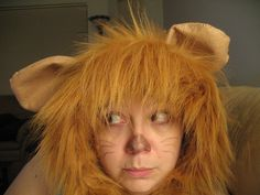 Home made Cowardly Lion Halloween costume - was super cheap to make Cowardly Lion Halloween Costume, Lion King Costume, Homemade Costumes, Diy Halloween Costumes, Pirate Costumes, Costume Ideas, Halloween 2017, Family Halloween, Halloween Night