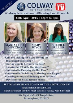 Join us in Birmingham UK Sunday April 24th