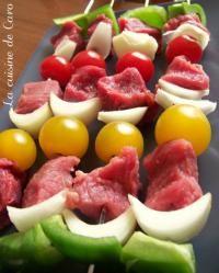 Brochettes boeuf et tomates cerises