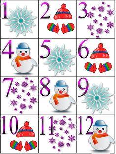 Winter-themed calendar pieces, measuring x December Calendar, Free Calendar, Kids Calendar, Preschool Calendar, Classroom Calendar, Preschool Activities, Classroom Ideas, Printable Numbers, Printable Calendar Template