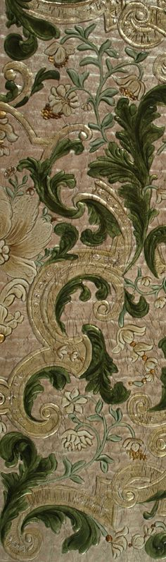 Gilt Leather, Verentuil, Leather wall Panel