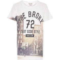 Boys white The Bronx print t-shirt £8.00 #RIkidswear