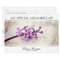 39 best funeral reception invitations moms memorial pinterest custom funeral keepsake share a memory card stopboris Image collections