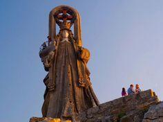 Virgen de la Roca in the city of Baiona in community Galicia Spain