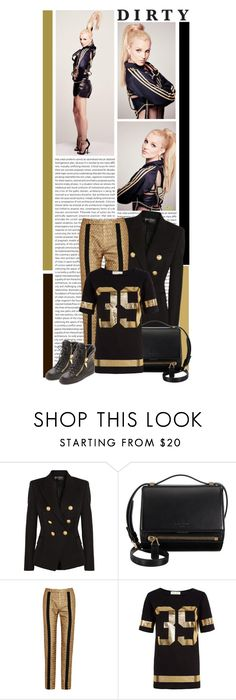 """#987 (Britney Spears)"" by lauren1993 ❤ liked on Polyvore featuring Britney Spears, Balmain, Givenchy, Kenzo, Cameo Rose, Giuseppe Zanotti and SOREL"
