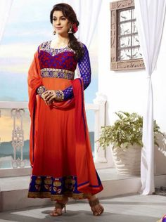SV-KA0185 at JUST @ $74 Buy at http://www.shopvhop.com/product/dark-red-juhi-chawala-designer-collection-16005/