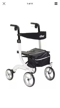 Drive Medical Nitro Euro Style Rollator Rolling Walker, White at Lowe's. Drive Medical's Nitro Euro Style Rollator Walker is the ultimate mobility solution that marries advanced reliable features with a sophisticated exterior. Scooters, Forks Design, New Drive, Bag Storage, Euro, Adrenal Glands, Adrenal Fatigue, Chronic Fatigue, Adrenal Health