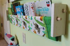 Child's Book Sling -  Green Jungle Kids book storage shelf Boy nursery decor. $29.00, via Etsy.