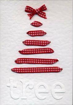 Tree card with ribbon