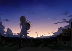 the art of animation sky city night wallpaper stars #anime #manga #illustration #art Anime scenery Sky anime Night sky wallpaper
